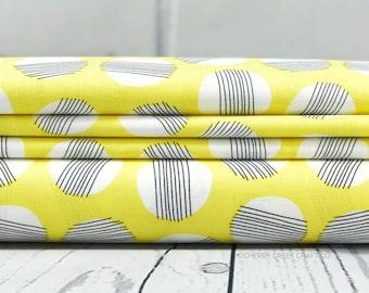 Yellow Circles Fabric - Everglades Fabric - Betsy Siber