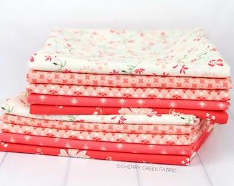 Harper's Garden Pink & Red Half Yard Bundle - Sherri and Chelsi