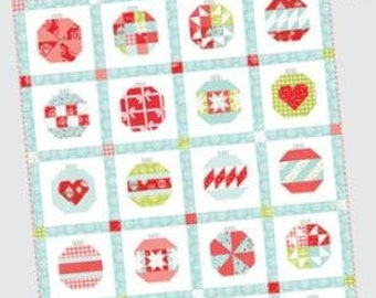 """Vintage Holiday 2 Quilt Pattern - Thimble Blossoms Pattern - Camille Roskelley - Bonnie and Camille - Fat Quarter Pattern - 58"""" x 72"""" Quilt"""