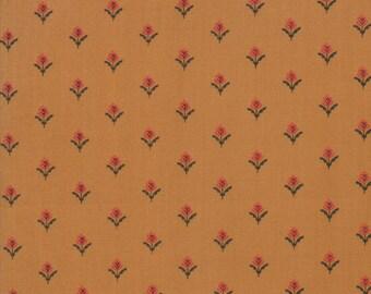 101 Maple Street Fabric - Gold Farmhouse Fleur Fabric - Bunny Hill Designs - Moda Fabric - Fall Fabric - Autumn Fabric - Sold by the Yard