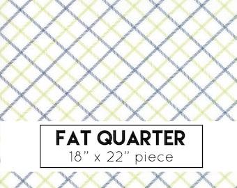 FAT QUARTER | Smitten Fabric - Blue Plaid Fabric - Bonnie & Camille Fabric - Moda Fabric - Blue Fabric - Plaid Fabric