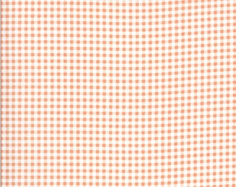 Apricot & Ash Fabric - Coral Gingham Fabric - Corey Yoder - Moda Fabrics - Geometric Fabric - Gingham Fabric - Sold by the Yard