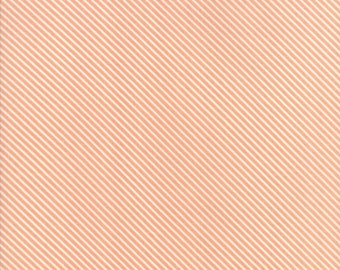 FAT QUARTER   Garden Variety Fabric - Peach Candy Stripes Fabric - Lella Boutique - Moda Fabric - Stripe Fabric - Binding Fabric