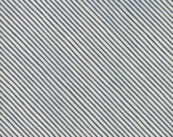 PREORDER Wintertide - White Candy Cane Stripes - Janet Clare - Moda Fabrics - Sold by Half Yard