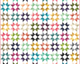 Quilt Pattern - All Star Quilt Pattern - V and Co - Moda Fabrics - Ombre Quilt Pattern