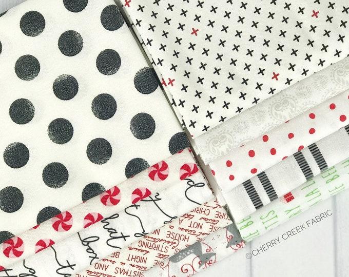 Featured listing image: Christmas Low Volume Fat Quarter Bundle - 10 pieces