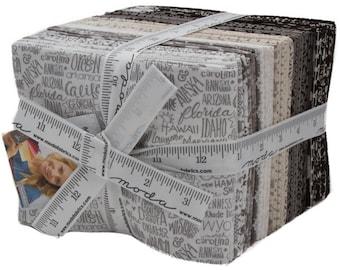 Metropolis Fat Quarter Bundle - Basic Grey - Moda Fabric - Fabric Bundle - 33 pieces