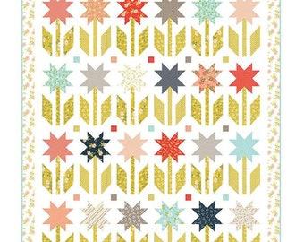 "Quilt Pattern - Botanical Garden Quilt Pattern - Chelsi Stratton - Moda Fabrics - Layer Cake Quilt Pattern - 66"" x 79"" quilt"