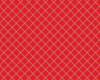 FAT QUARTER   Simple Goodness Fabric - Red Ruffle Plaid Fabric - Tasha Noel - Riley Blake Designs - Scallop Fabric