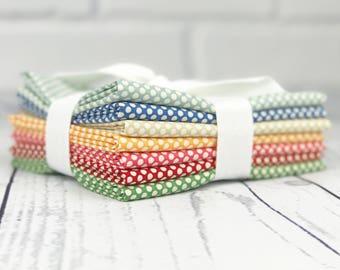 Polka Dot Fat Quarter Bundle - Merry Go Round Fabric - American Jane - Moda Fabric - Polka Dot Fabric - Fat Quarter Bundle - 7 pieces