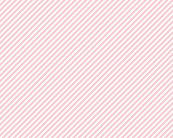 FAT QUARTER   Simple Goodness Fabric - Pink Bias Stripes Fabric - Tasha Noel - Riley Blake Designs - Stripe Fabric