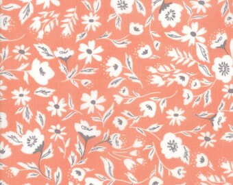 FAT QUARTER   Garden Variety Fabric - Peach Garden Bed Fabric - Lella Boutique - Moda Fabric - Floral Fabric - Flower Fabric