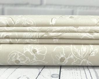 Grandale Fabric - Tan Carnation Fabric - Keera Job - Riley Blake Designs - Sold by Half Yard