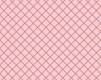 FAT QUARTER   Simple Goodness Fabric - Pink Ruffle Plaid Fabric - Tasha Noel - Riley Blake Designs - Geometric fabric