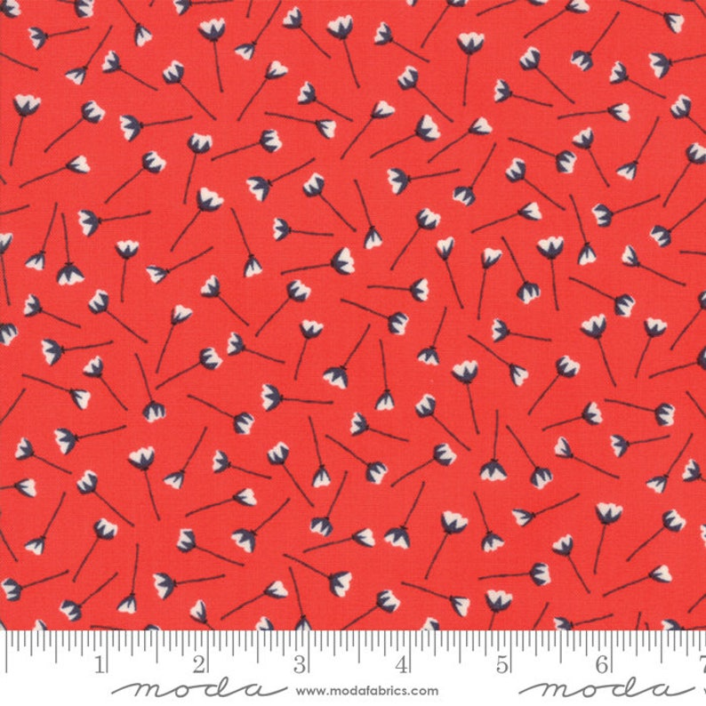 11 Pomegranate Florets Porch Fabric The Front Porch Fabric Sherri /& Chelsi End of Bolt 3 yd CLEARANCE