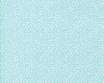 FAT QUARTER   Orchard Fabric - Aqua Leaves Fabric - April Rosenthal - Moda Fabric - Leaf Fabric - Fall Fabric