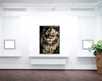 Lion Art Acrylic Print | Wall Art