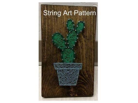 string art template string art pattern string art cactus etsy