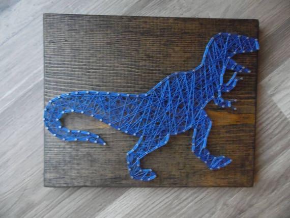 Dinosaur String Art Trex String Art Boys String Art Etsy