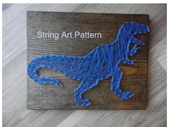diy t rex string art t rex pattern t rex template t rex etsy