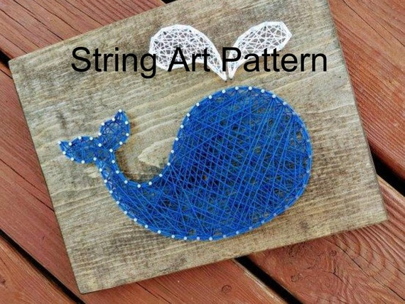 whale string art whale string art pattern nautical string etsy