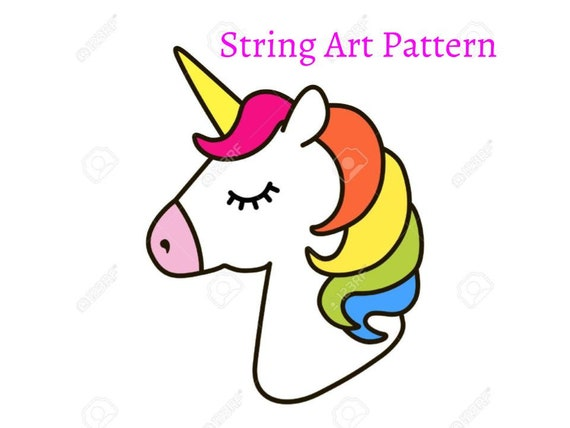 Einhorn-String-Art-Muster String Art Einhorn Muster Einhorn   Etsy