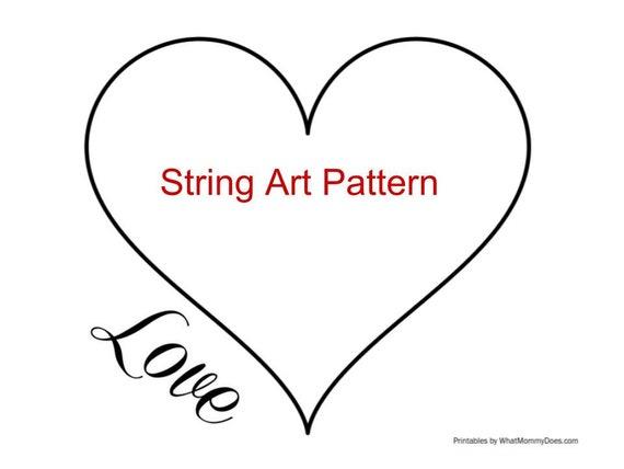 string art template string art pattern diy string art heart etsy. Black Bedroom Furniture Sets. Home Design Ideas