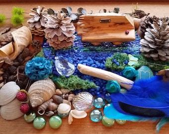 Fairy Beachcomber Kit - Blue Fairy Garden Accessories