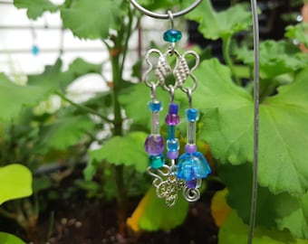 Blue and Purple Garden Fairy Wind Chime - Fairy Garden Accessory WC-107
