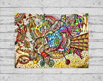 Carnimal / Wall Art, Print, Poster, Home Decor, Gift / Kobay