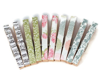 Magnetic Clothespins, Decorative Clips, Refrigerator Magnets, Cottage Chic, Floral, Photo Clips, Bag Clips, Office Decor, Bag Clips, Magnet