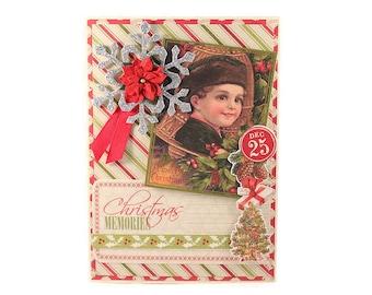 Christmas Card, Victorian Style, Vintage Style,  Christmas Greetings, , Holiday Card, Handmade Christmas Greeting, Luxury Greeting Card