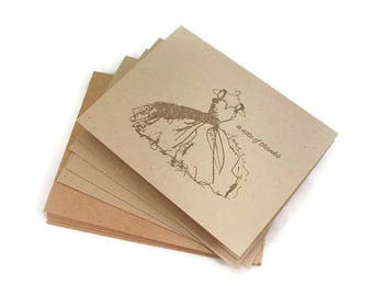 Bridesmaid Thank You Cards, Wedding Thank You Card Set, Bridal Shower Thank You Cards, Rustic Wedding Cards, Wedding Dress Thank You Cards,