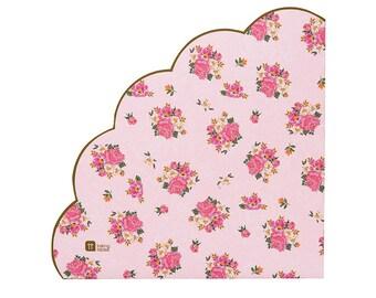 Floral paper napkins etsy pink floral napkins bridal shower napkins baby shower napkins girl tea party napkins 20 floral paper napkins mightylinksfo