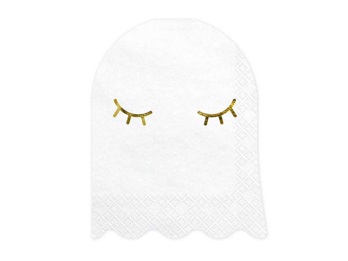 White Ghost Beverage Napkins 20ct Kids Halloween Party image 0