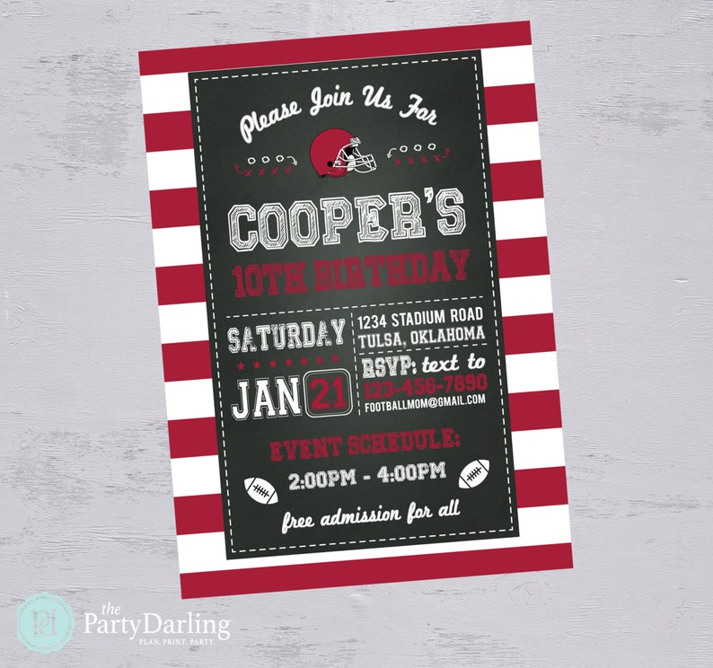 photo regarding Super Bowl Party Invitations Free Printable titled Soccer Celebration Invitation Soccer Birthday Social gathering Boy Soccer Birthday Invitation Tremendous Bowl Printable Invitation The Bash Darling