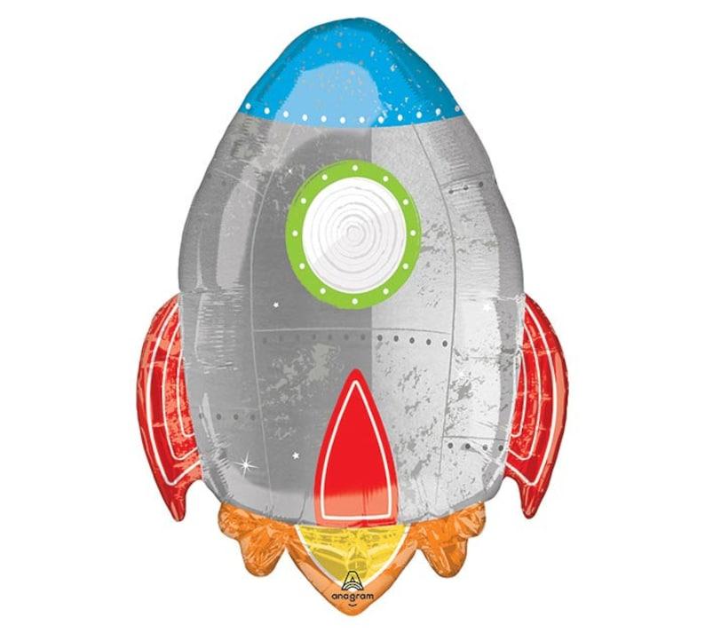 """Space Rocket Birthday Balloon 36/"""" Foil Balloon"""
