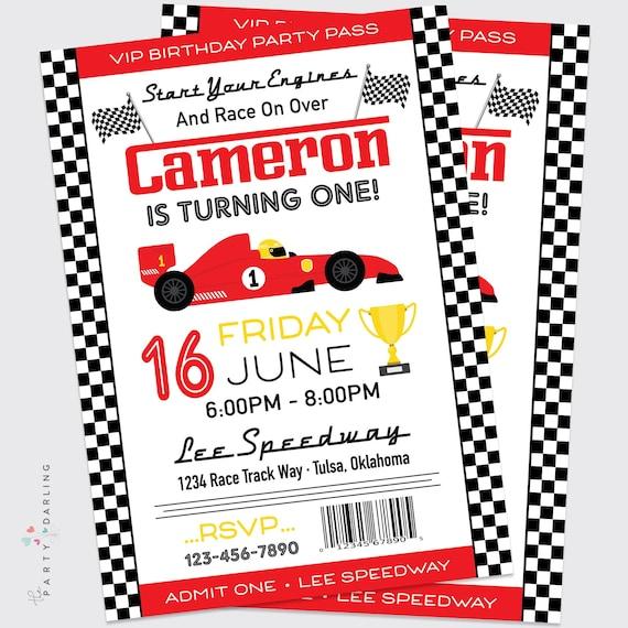 photograph regarding Nascar Schedule Printable titled Race Auto Birthday Invitation Boys Raceway Birthday Social gathering
