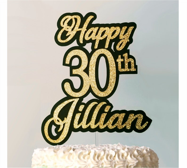 30th Birthday Cake Topper Personalized 30 Year