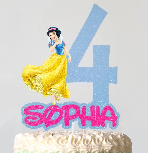 Incredible Snow White Cake Topper Custom Name And Age Birthday Cake Etsy Funny Birthday Cards Online Alyptdamsfinfo