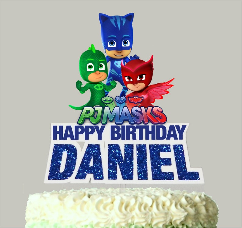 PJ Masks Birthday Cake Topper Personalized With Name