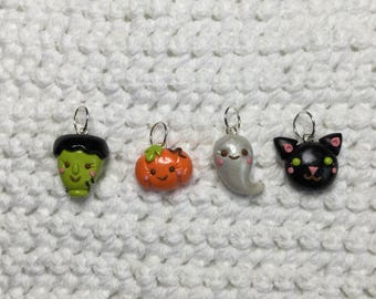 Cute Halloween stitchmarkers Set of 4 *Knitting* Stitch Markers