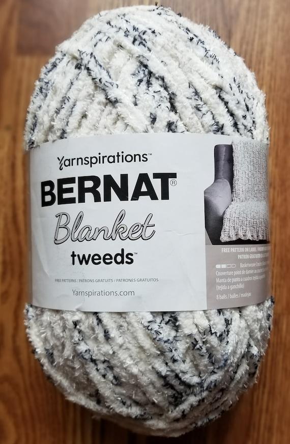 Bernat Blanket Tweeds Yarn Super Bulky Yarn Ivory Tweed | Etsy