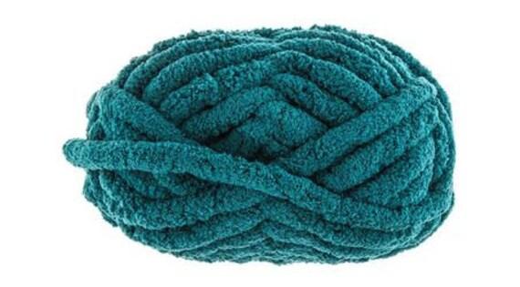 Teal, Chunky Chenille Yarn, Bernat Blanket BIG Style Yarn, Jumbo Yarn, 100%  Polyester, Soft Yarn, Chunky Yarn, Crochet, Finger Knitting