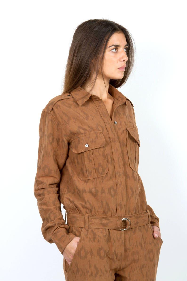 4c53967cef72 Jumpsuit BILLIE Tan ikat cotton