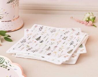 shower gift embroidered napkins dinner napkins bridal shower gift Vintage table napkins floral napkins dining free shipping