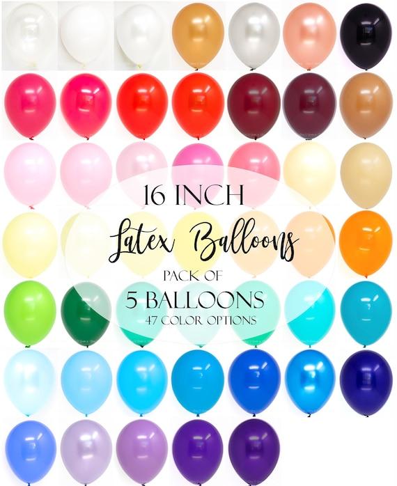 6 fourni Robins Egg Bleu 50 ans anniversaire Sparkle Latex Ballons