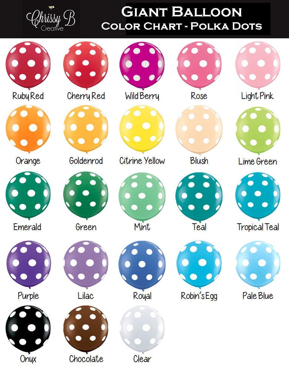 Giant Polka Dot Balloon 36 Latex Balloon By Qualatex Etsy