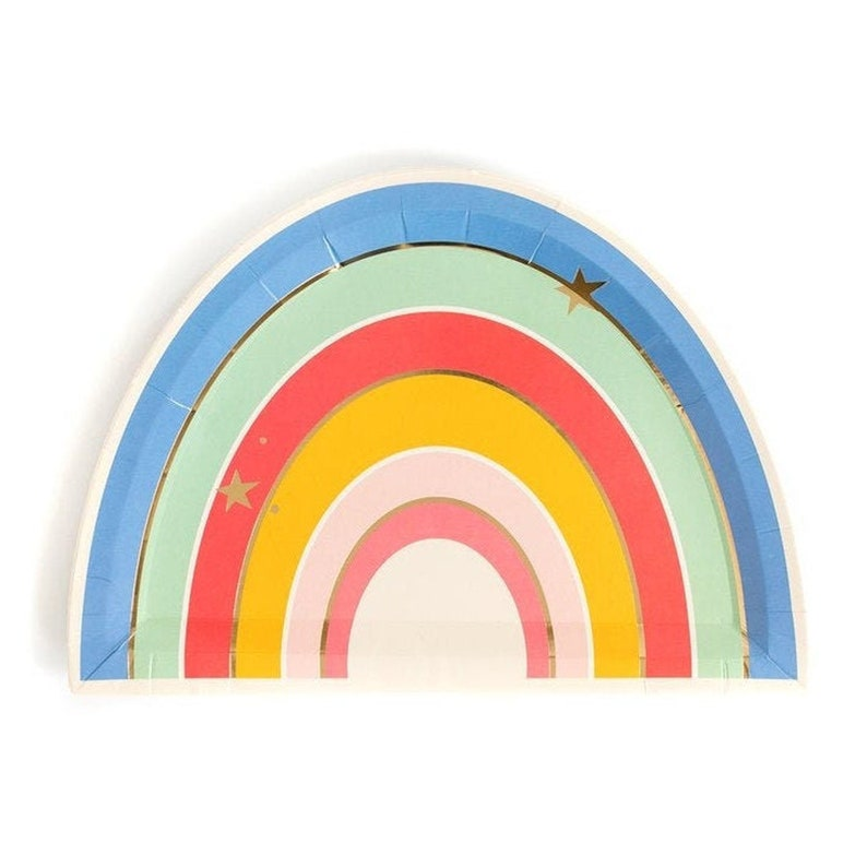 Rainbow Birthday Party Unicorn Party Pack of 8 Paper Plates Magical Rainbow Plates 9 Rainbow Shower