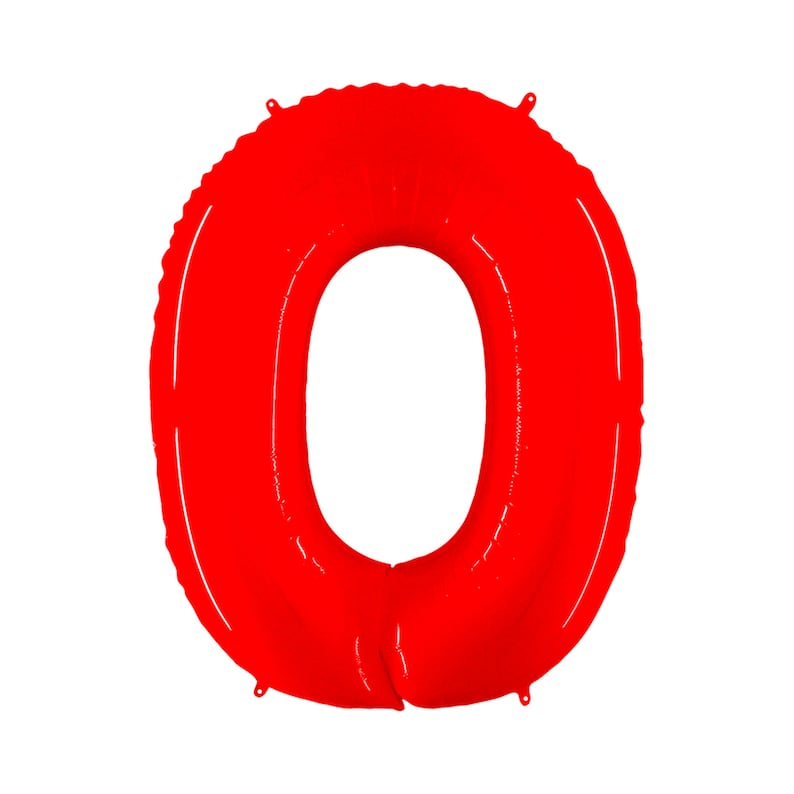 Giant Number Balloons Bright Red Mylar Number Balloons